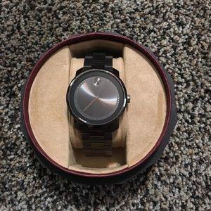 Movado bold gunmetal watch